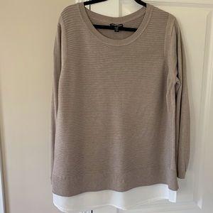 Hilary Radely Mixed Media Sweater EUC
